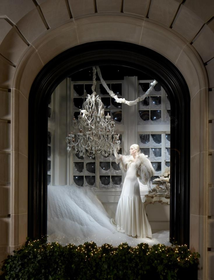 Explore the glamorous holiday windows at 888 Madison Avenue.