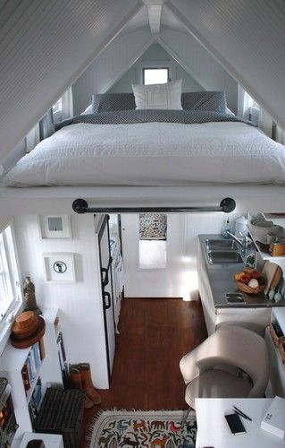 Gypsy Living Traveling In Style| Serafini Amelia| Gypsy Lifestyle | Very nice House trailer, the clean design lines and white color is a nice change from the typical Winnebago interior, feels like a house and not a caravan