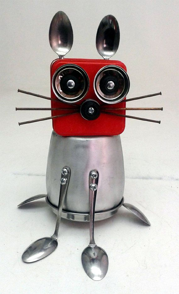 RESERVED FOR LISA  Cool Cat 3 Assemblage Steampunk by DonLJones