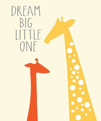 '#Dream Big' #Giraffe Print