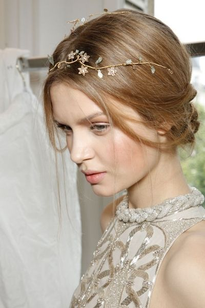 Jeweled branches hair crown