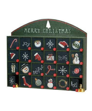 Take a look at this Green Merry Christmas Box Advent Calendar by Primitives by Kathy on #zulily today!