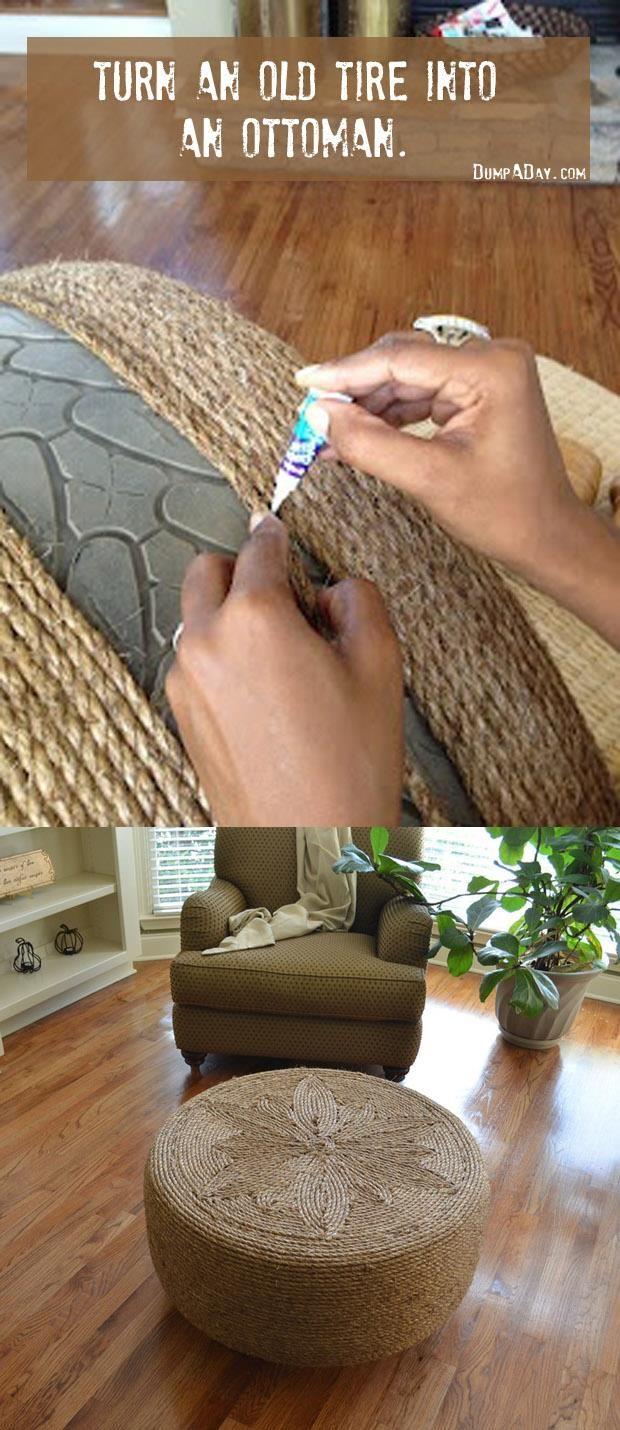 Crafty ideas- Tire ottoman