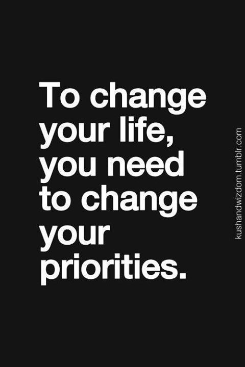 "Never underestimate the power of ""priorities.""  Priority means that you give something or someone precedence in or over a certain part or all parts of your life in regards to the order of importance and urgency.  It's a thing that is regarded as more important than another.  You can make the greatest change in your life by making the choice to set ""proper priorities.""  #thoughttoponder  #realtalk  #realitycheck"