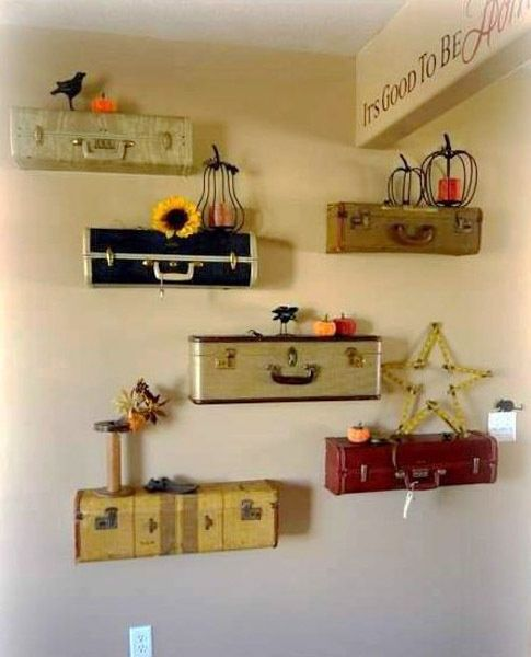 diy vintage home decor ideas | 20 diy vintage suitcase decorating ideas best ... | Decor and Ideas f ...