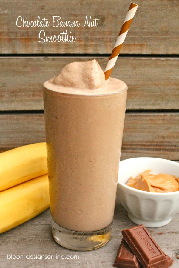 Chocolate Banana Nut Smoothie