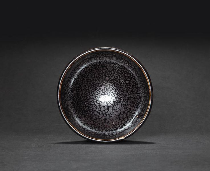 A fine and small black glazed bubble bowl with oil-spot, Northern Song Dynasty