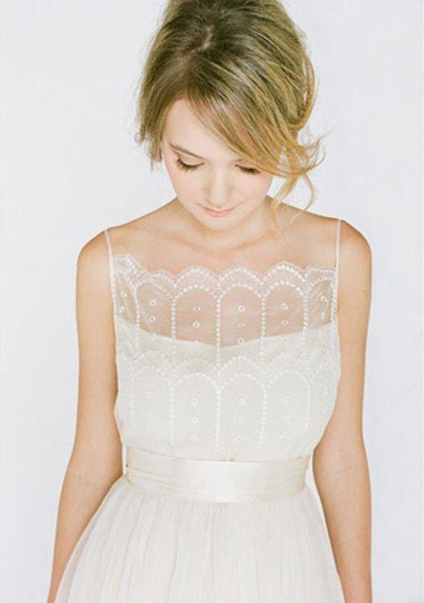 illusion neckline wedding dress saja