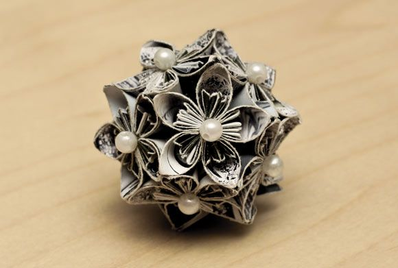 Paper Flower Kusudama Ball