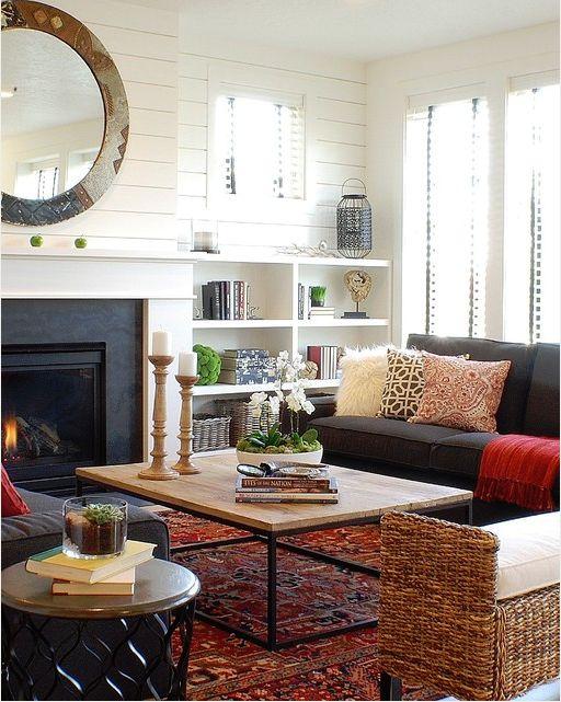 Modern farmhouse living room | Home | Pinterest