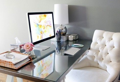 """Whether you're a working gal or a full-time mom, it's important to create a beautiful, inspiring, and organized workspace."" - by our blogger Kyle"