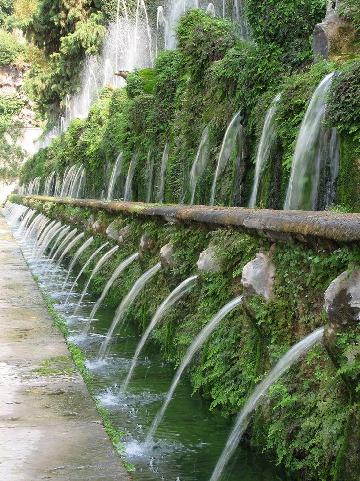 Villa D'Este, Rome. The Avenue Of 100 Fountains