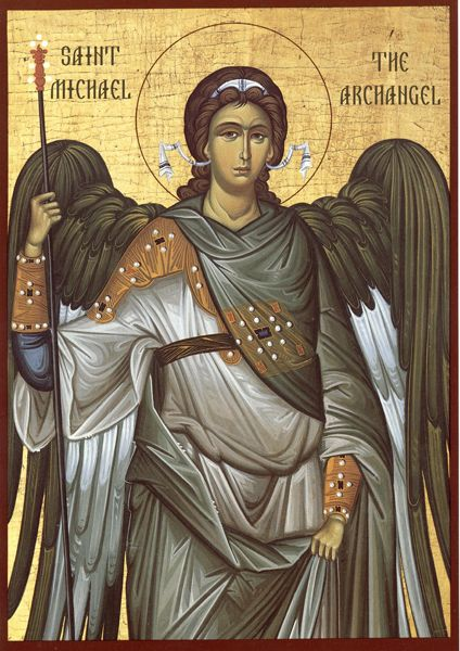 """, Commander of the Heavenly Hosts. Prayerfully guard us under the wings of your bodiless splendor. Protect us, who fervently turn to you and cry: """"Deliver"""