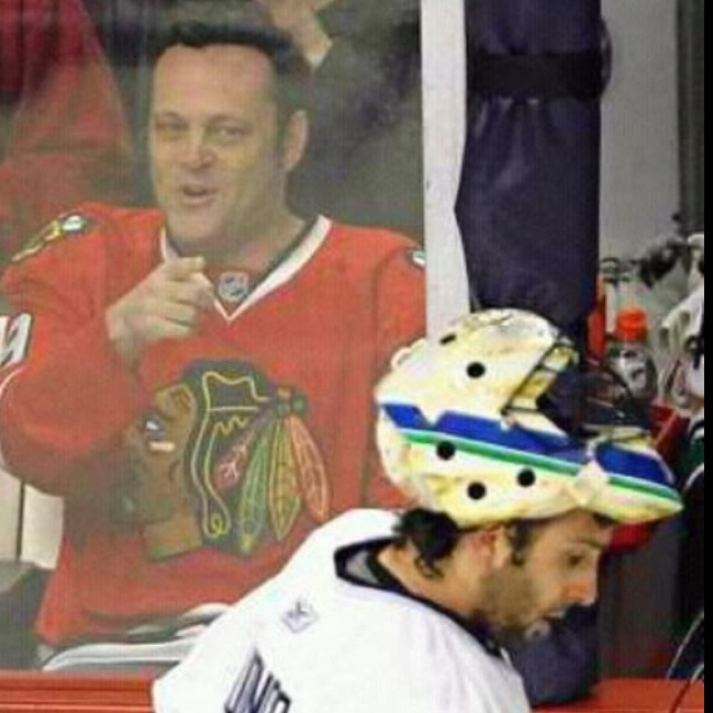 Vince Vaughn is clearly a fan of Roberto Luongo