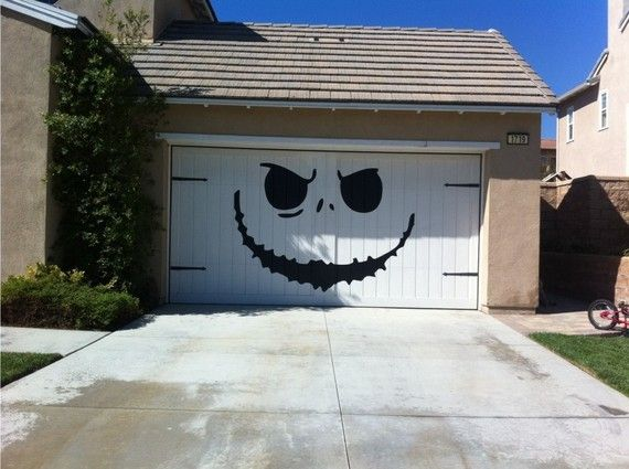 Garage decal for Halloween
