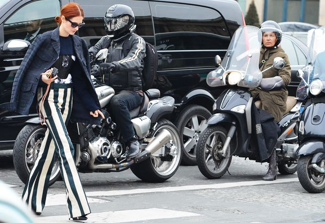 taylor tomasi hill during f12 shows  photographed by tommy ton