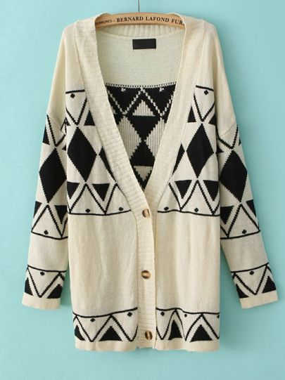 Geometric Patterned Sweater <3