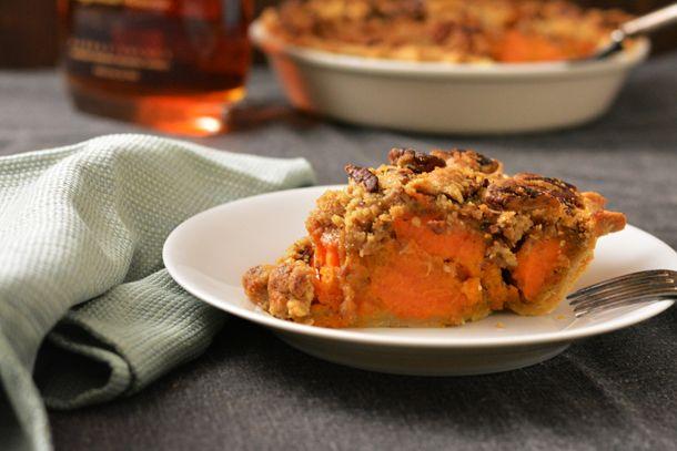 Chunky Bourbon Sweet Potato Pie | KneadForFood - Food Blog Recipes