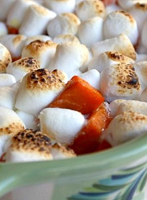 Caramelized Yams with Toasted Marshmallows #Thanksgiving #recipe