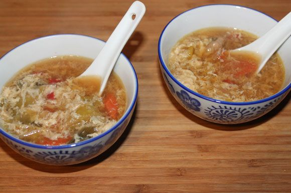 Chinesische Eierflöckchensuppe