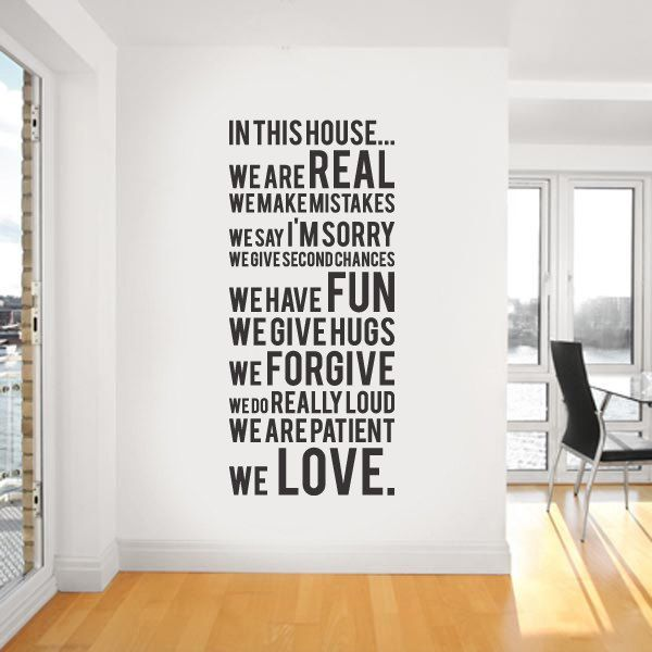 Vinyl Wall Sticker Decal In this house we do by urbanwalls on Etsy. $49.00, via Etsy.