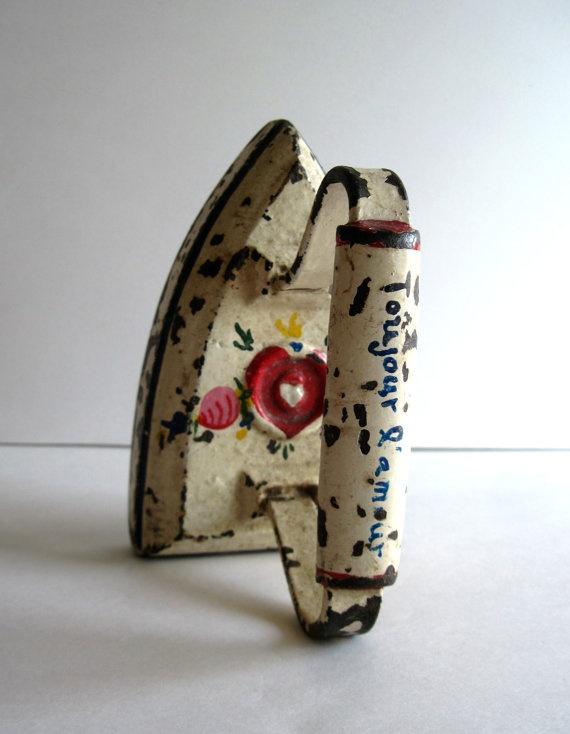 Antique Cast Iron Clothes Presser Sad Iron by RushCreekVintage, $49.00