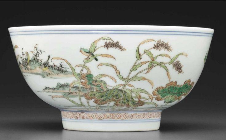 A very rarefamille vertebowl, Kangxi period (1662-1722)