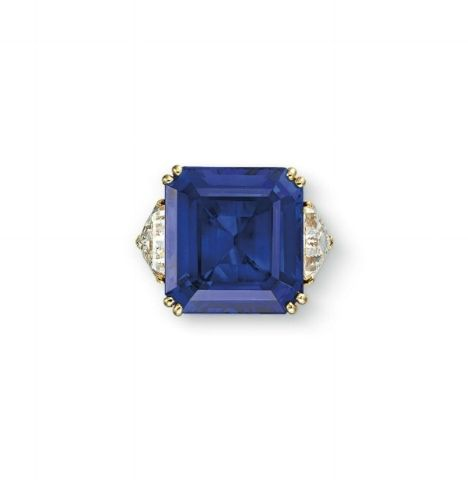 A 22.97-carat Burmese sapphire ring