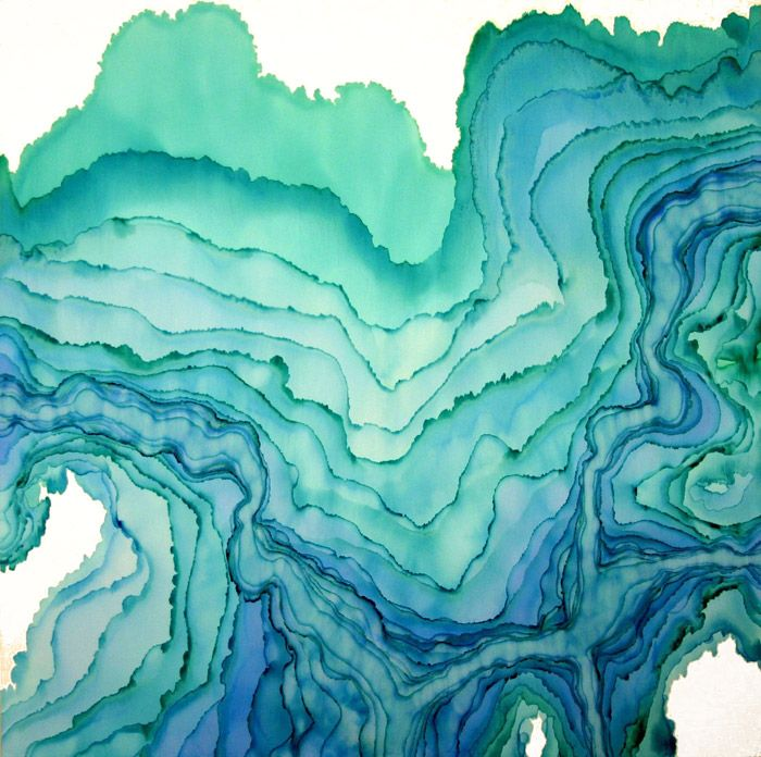 Abstract watercolors of Tobias Tovera