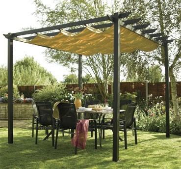 pergola with soft canvas canopy | garden/patio | Pinterest on Canvas Sun Shade Pergola id=53567