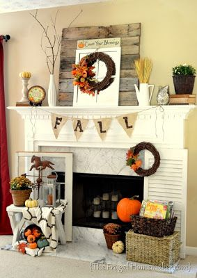 Orchard Girls: Top 12 Fall Decorating Ideas definitely will have a fireplace in the house we buy. :)
