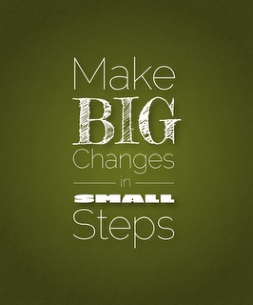 how to make big changes to your blog in small steps