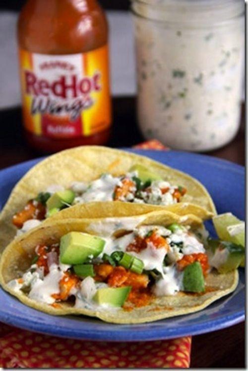 Chicken Recipes: Buffalo Chicken Tacos