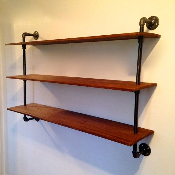 wall mounted bookshelf reclaimed wood pipe bookshelf on wall mount bookshelf id=28125