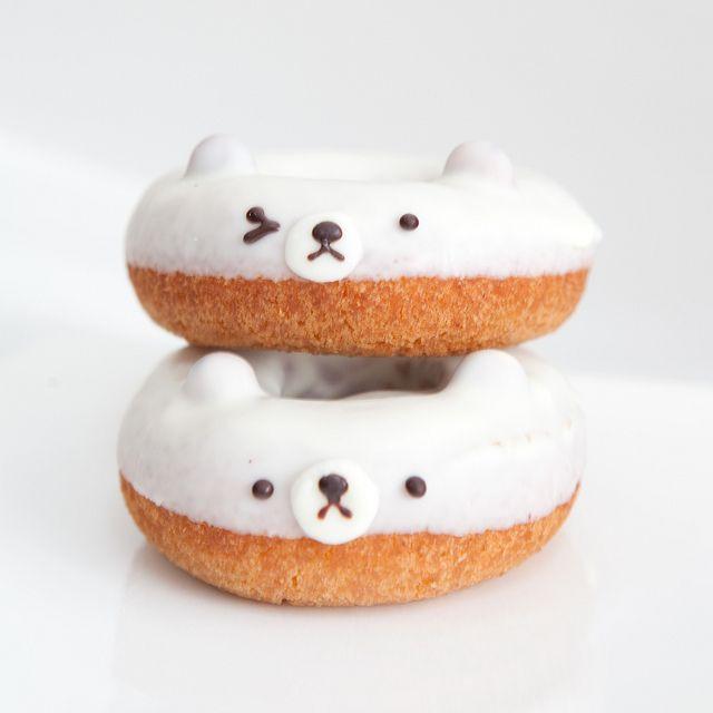 {white bear donuts} eep! so cute!