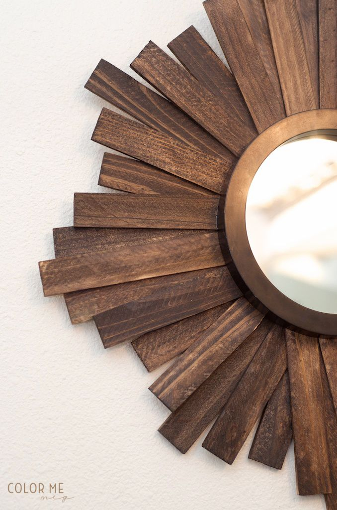 bathroom #DIY wood mirror with shims