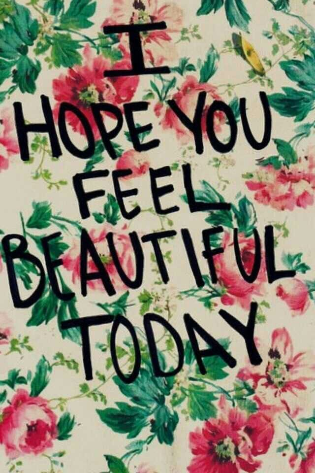 We hope you feel beautiful today lovelies! #fromtheinsideout