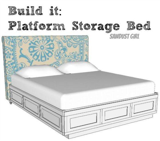Queen Platform Storage Bed Plans