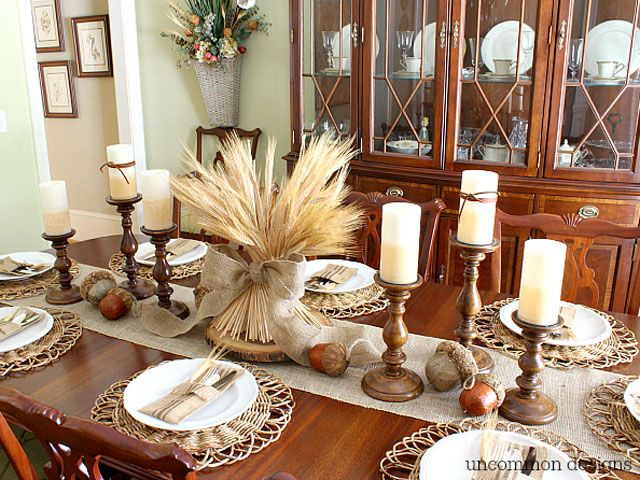 Thanksgiving Table Inspiration Baked In The South: simple thanksgiving table decorations