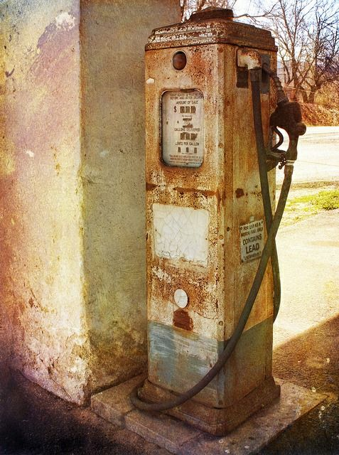 rusty gas pump...