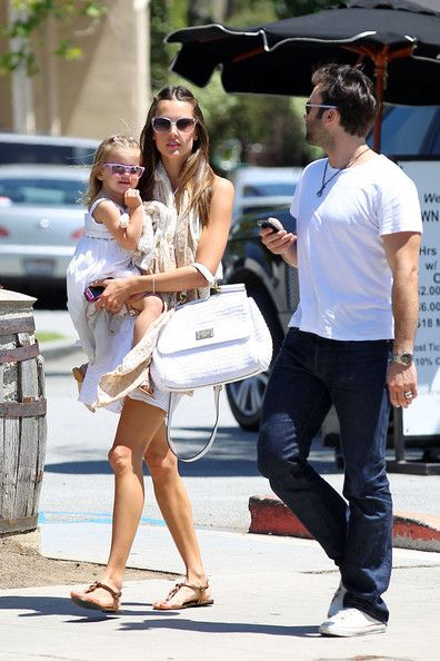 Alessandra Ambrosio wearing Dolce & Gabbana Miss Sicily Satchel Salvatore Ferragamo Hobo Leather Sandals  Brentwood May 27 2011