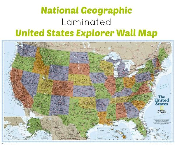 national geographic laminated united states explorer wall on laminated wall maps id=81953