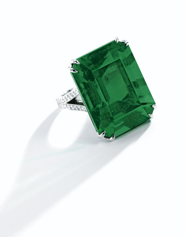 Impressive and Very Rare Emerald and Diamond Ring | Lot | Sotheby's