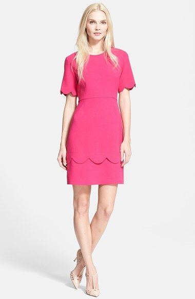 kate spade new york 'demi' scallop a-line dress