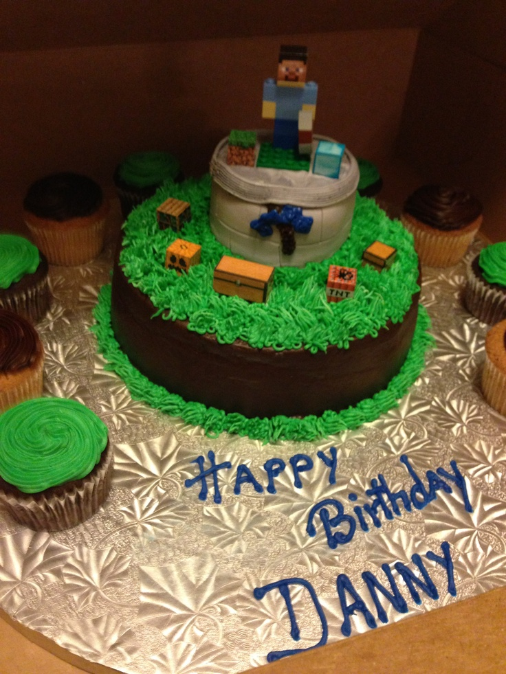 Lego Minecraft Cake Ideas 12646 Danny 5th Bday Cake Minecr