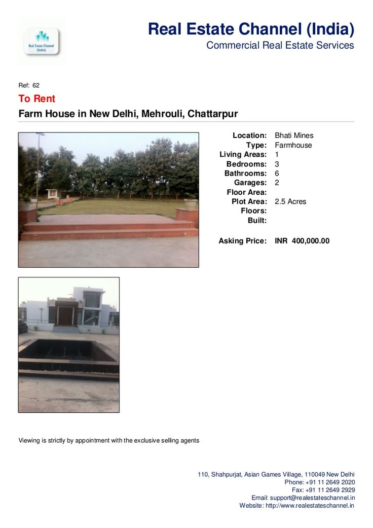 farmhouse-for-rent-in-chattarpur-near-radha-soami-satsang by Real Estate Channel (India) via Slideshare