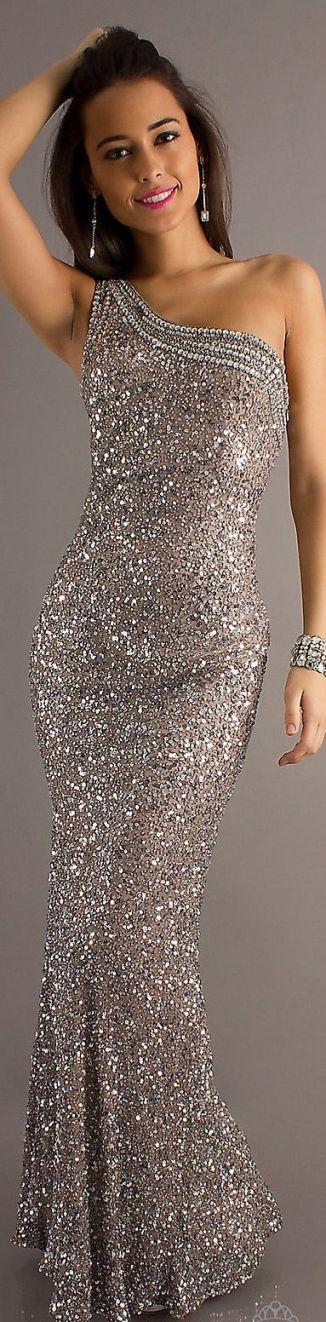 Glittery formal long dress.