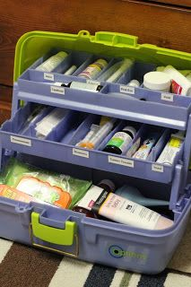 "This ""Baby Tackle Box"" is packed with essentials for taking care of a sick baby. Would make a great baby shower gift!"