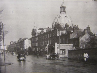 Balck-and-white photo of Rathmines Church, Dublin