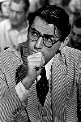 Gregory Peck in one of the greatest movies ever, TO KILL A MOCKINGBIRD!